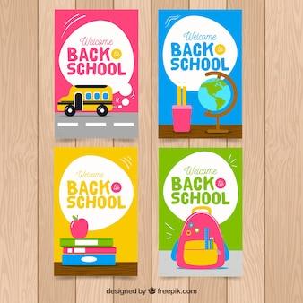 Retour à la collection de cartes scolaires avec des éléments