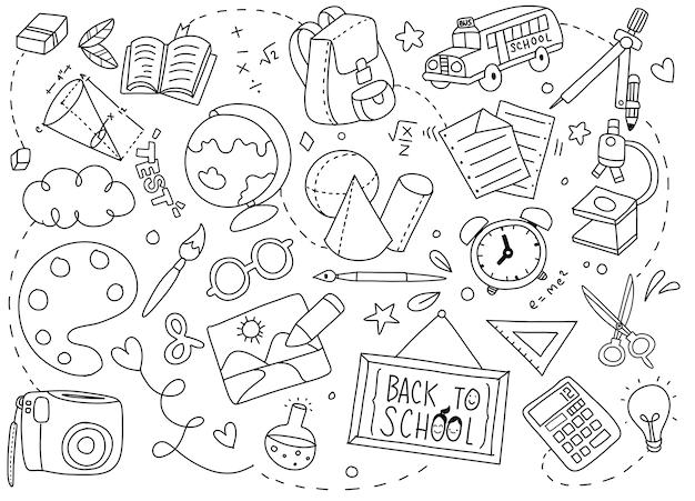 Retour à l'affiche de l'école avec des doodles