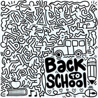 Retour à l'affiche de l'école avec des griffonnages