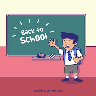 Retour à l'arrière-plan de l'école avec l'élève