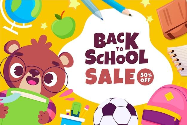 Retour à l'arrière-plan de vente d'école