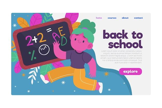 Retour au concept de page de destination de l'école