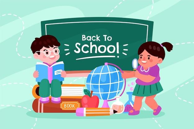 Retour au fond de l'école à la main