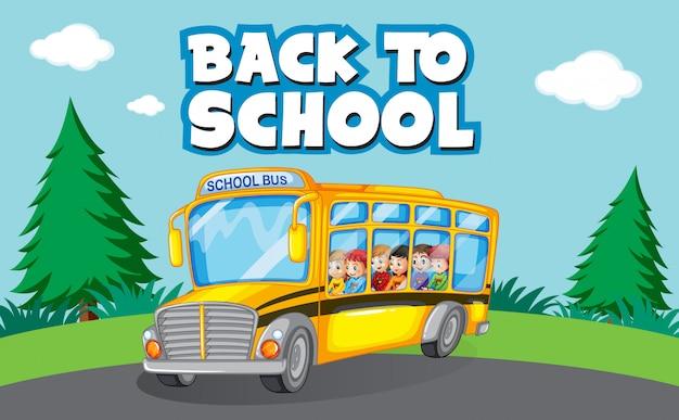 Retour au modèle d'école avec autobus scolaire