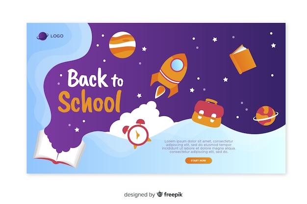 Retour au modèle de page de destination de l'école