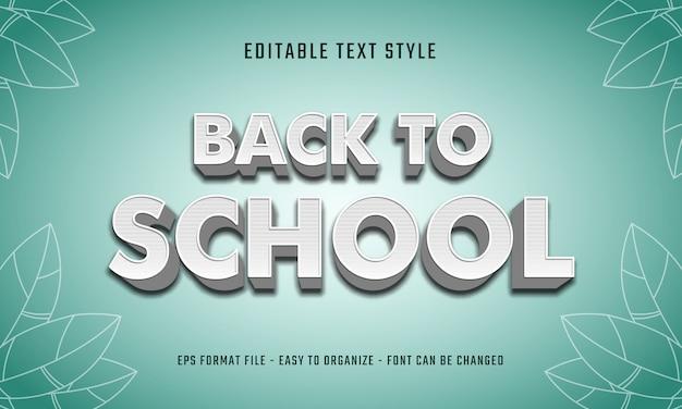 Retour au style de texte de l'école