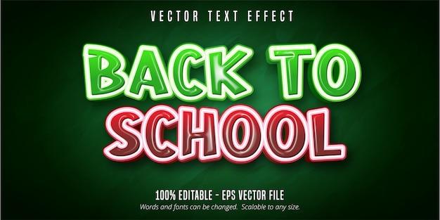 Retour au texte de l'école, effet de texte modifiable de style éducatif