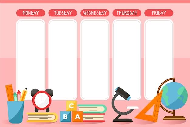 Retour au thème du calendrier scolaire
