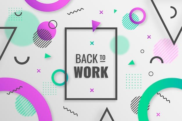 Retour au travail - memphis background