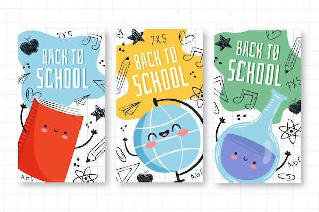 Retour aux histoires instagram de l'école dessiner