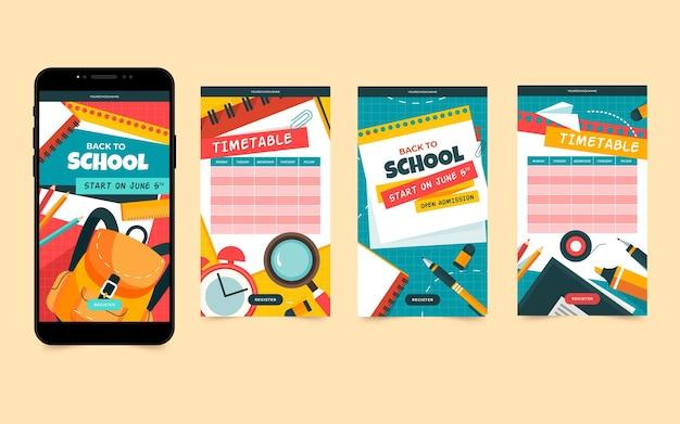 Retour aux histoires instagram de l'école