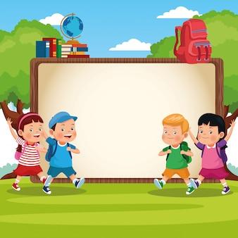 Retour à la bande dessinée des enfants de l'école