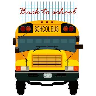 Retour à la carte de l'école avec le bus jaune.