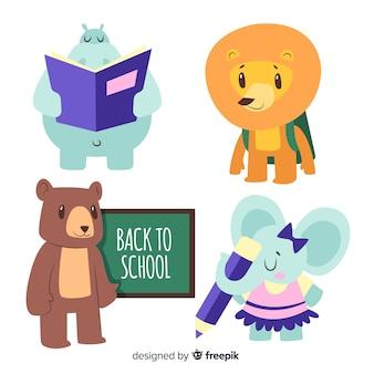 Retour à la collection d'animaux de l'école