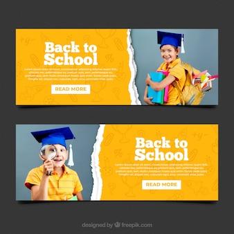 Retour à la collection de bannière web de l'école avec photo