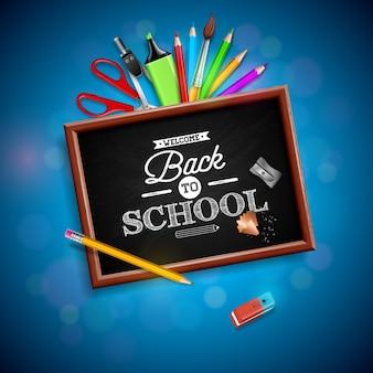 Retour à la conception de l'école avec un crayon coloré