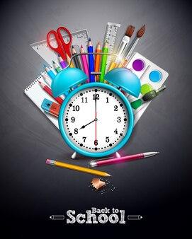 Retour à la conception de l'école avec un crayon graphite