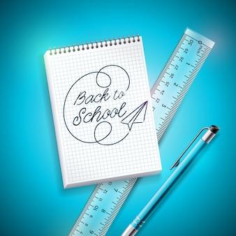 Retour à la conception de l'école avec un stylo