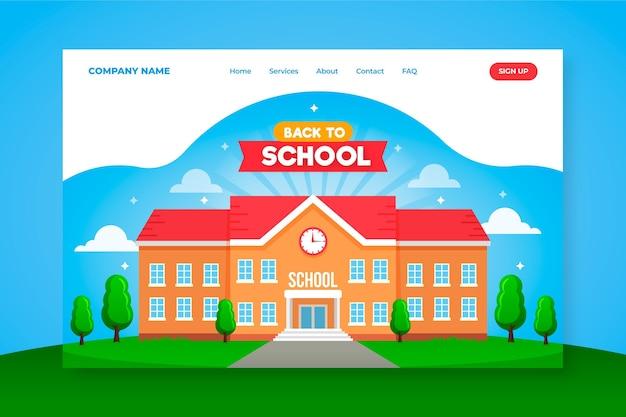 Retour à la conception de la page d'accueil de l'école