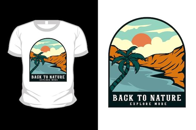 Retour à la conception de t-shirt illustration dessinés à la main nature