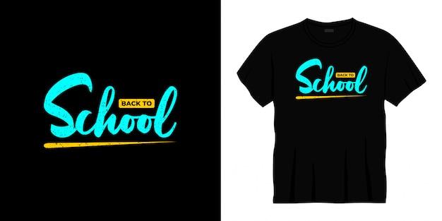 Retour à la conception de t-shirt typographie école