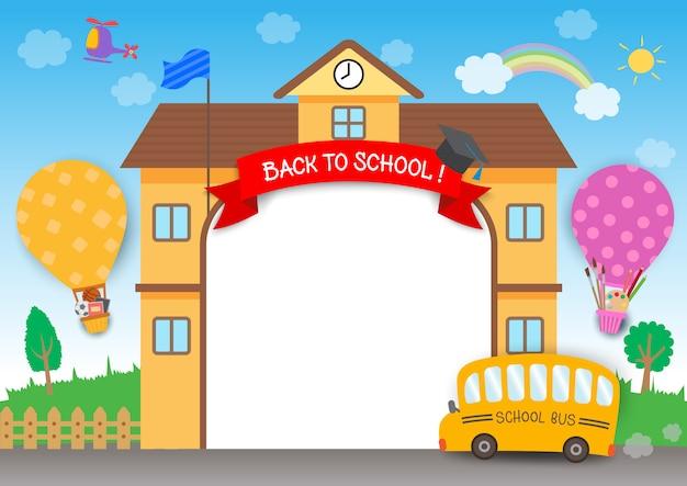 Retour à l'école arc-en-ciel