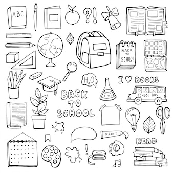 Retour à l'école. articles d'éducation.