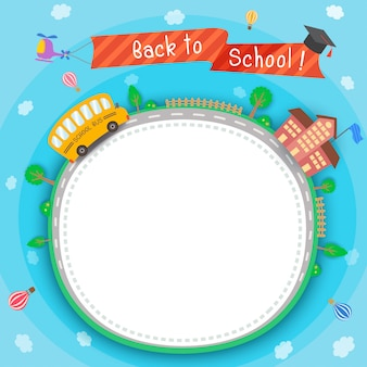 Retour à l'école autour de la route