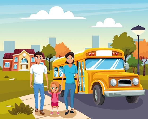 Retour à l'école avec bonheur