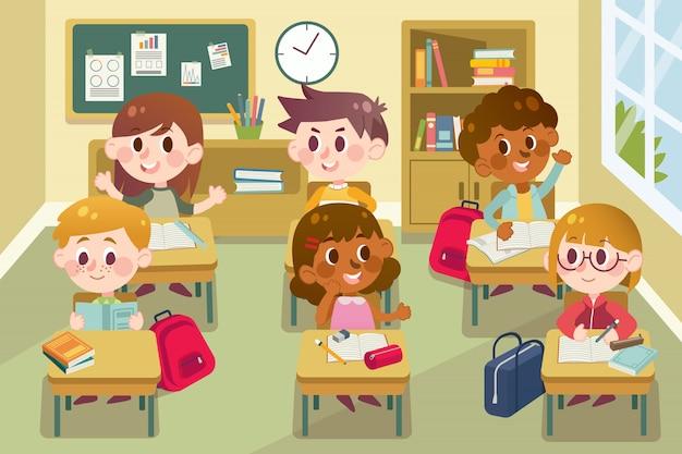 Retour à l'école en classe