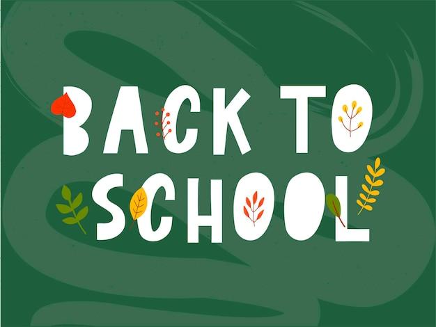 Retour à l'école doodles sommaires avec des feuilles d'automne d'illustration vectorielle dessinées à la mainlettragedesign