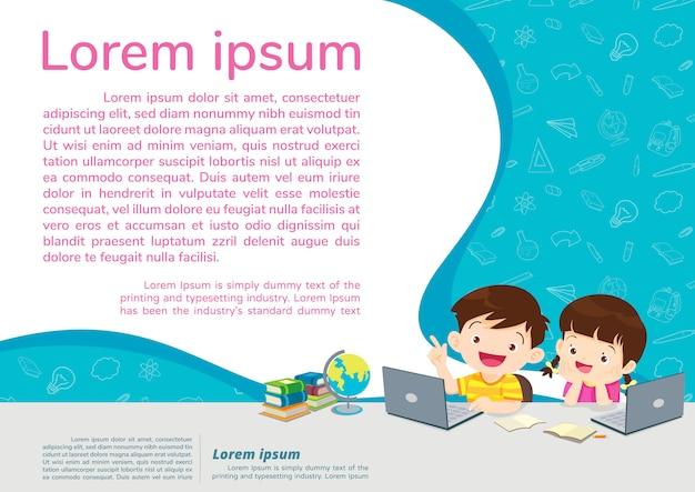 Retour à l'école éducation et apprentissage concept d'éducation
