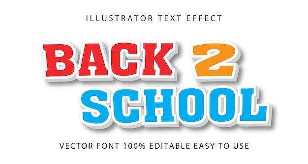 Retour à l'école effet texte modifiable
