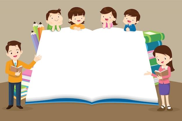 Retour à l'école des enfants, fond de concept de l'éducation