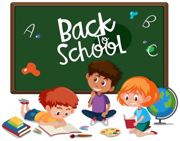 Retour à l'école avec étudiant