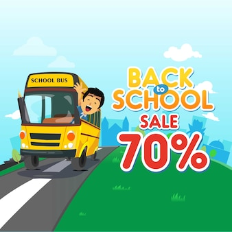 Retour à l'école fond de vente