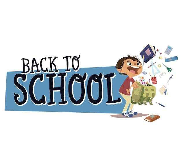 Retour à l'école, fournitures scolaires