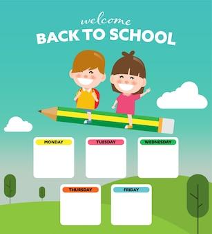 Retour à l'école et horaire des enfants.