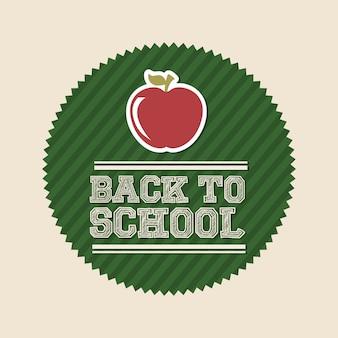 Retour à l'école sur l'illustration vectorielle fond blanc