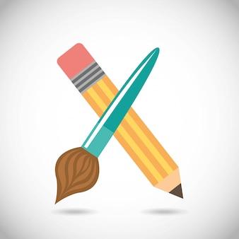 Retour à l'école sur illustration vectorielle fond gris