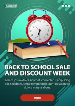 Retour à l'école et modèle vertical semaine discount