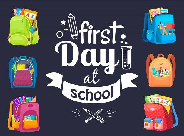 Retour à l'école avec sac à dos