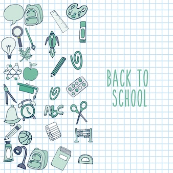 Retour à l'école set icon icon
