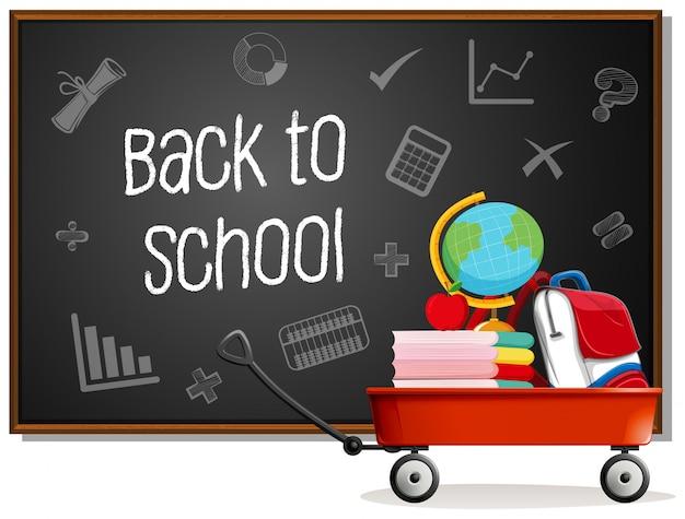 Retour à l'école sur tableau noir
