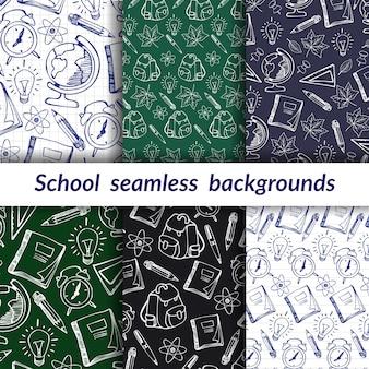 Retour à l'école textures sans couture