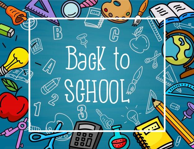 Retour à l'école. trucs d'école