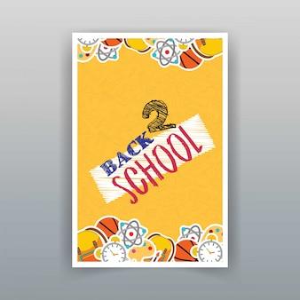 Retour à l'école vecteur de conception de brochure