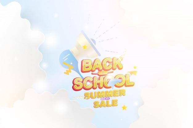 Retour à l'école et vente d'été