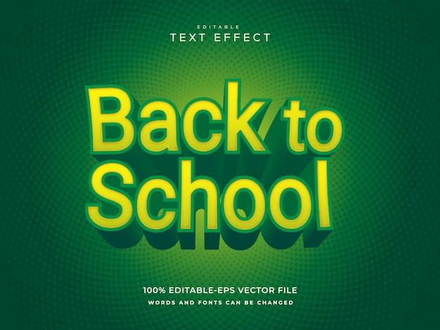 Retour à l'effet de texte de l'école