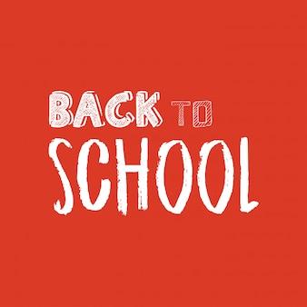 Retour à l'élément de conception de l'école avec le vecteur de fond orange